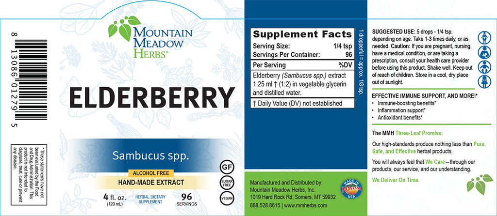 European Elderberry Extract (4 oz.)